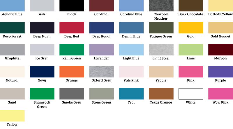 Hanes Color Chart Rebellions